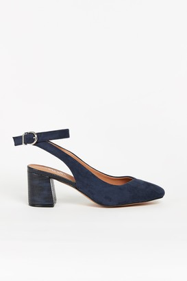 Wallis Navy Slingback Court Shoe