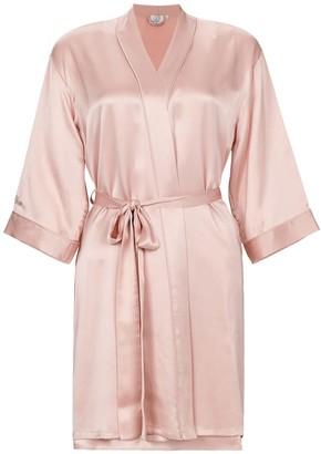 Not Just Pajama Silk Wedding Robe - Pink
