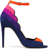Pierre Hardy Roxy Color-block Suede Sandals - Indigo