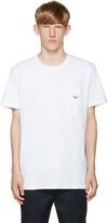 MAISON KITSUNÉ White Embroidered Pocket T-Shirt