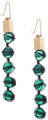Mame Kurogouchi Hanging Bead Earrings