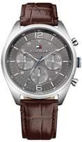 Tommy Hilfiger Men's Corbin Croc Embossed Leather Watch, 44mm