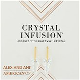 Alex and Ani Crystal Infusion Earrings, Golden Ray Spike Earrings