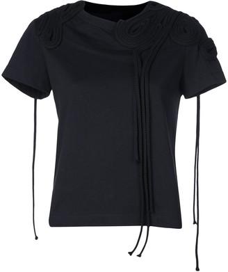 Vera Wang corded embroidery T-shirt