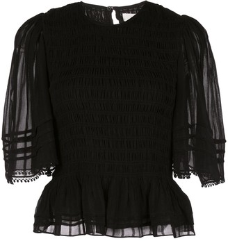 Etoile Isabel Marant Janette sheer sleeved T-shirt