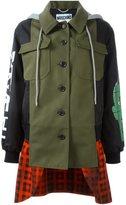 Moschino layered patchwork coat