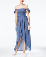 American Rag Printed Off-The-Shoulder Tulip-Hem Maxi Dress, Only at Macy's