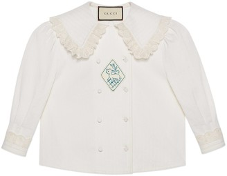 Gucci Cotton shirt with wide lace collar