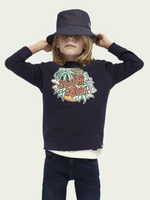 Scotch & Soda Crewneck artwork cotton-blend sweater | Boys
