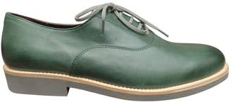 Swildens Green Leather Lace ups