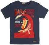 Finger In The Nose Hotdog Printed Cotton Jersey T-Shirt
