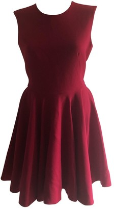 Alexander McQueen Red Wool Dress for Women