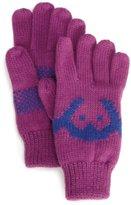 Appaman Girls 7-16 Knit Logo Gloves, Purple Rain, X-Large