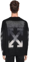 Off White Logo Brushed Mohair Crewneck Sweater