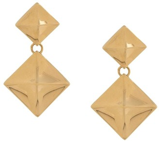 Mulberry Pyramid pendant earrings
