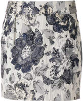 Piccione Piccione Piccione.Piccione floral embroidered fitted skirt