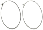 "Melissa Joy Manning Extra Large Sterling Silver Hoop Earrings - 1.75"" in Diameter"