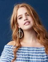 Double Half-Circle Drop Earrings