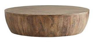 Arteriors Solid Wood Drum Coffee Table