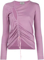Preen by Thornton Bregazzi cut out ruched sweater