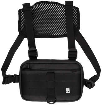 Alyx Black Leather New Mini Chest Rig Pouch