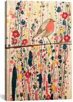 iCanvas 'Je Ne Suis Pas Qu'un Oiseau' Giclee Print Canvas Art