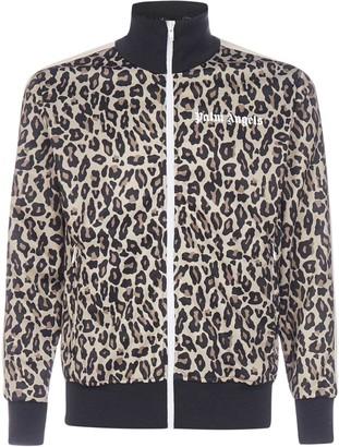 Palm Angels Leopard Print Logo Tracksuit Jacket