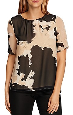 Vince Camuto Abstract Cow Print Top