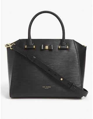 Ted Baker Jaelynn bow detail leather tote