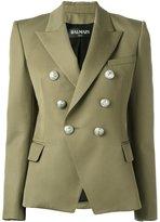 Balmain double breasted blazer - women - Wool/Viscose/Cotton - 36