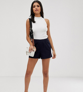 Vero Moda Tall culotte shorts in navy