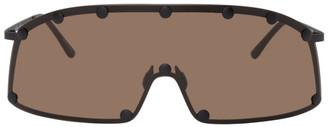 Rick Owens Brown Shielding Sunglasses
