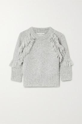 Apiece Apart Aldama Fringed Alpaca-blend Sweater - Gray