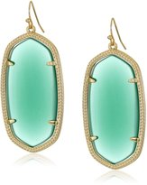 "Kendra Scott Signature 2015"" Gold and Cobalt Cat's Eye Color Danielle Drop Earrings"