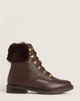 Lauren Ralph Lauren Chestnut Lanescot Faux Fur-Lined Boots