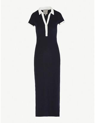 Giuliva Heritage Collection Daphne contrast-trim cotton maxi dress