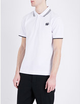 McQ by Alexander McQueen Swallow-logo cotton-piqué polo shirt