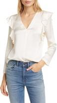 Rebecca Taylor Long Sleeve Ruffle Silk Top
