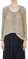 Pas De Calais Women's Striped Sheer Cotton Voile Shirt