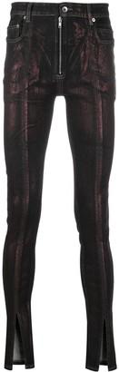 Rick Owens Snake-Tongue Skinny Jeans