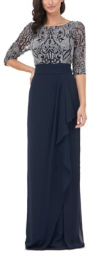 JS Collections Embellished-Bodice Gown