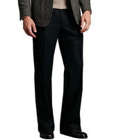 Tom Ford Wide-Leg Flannel Pants, Charcoal