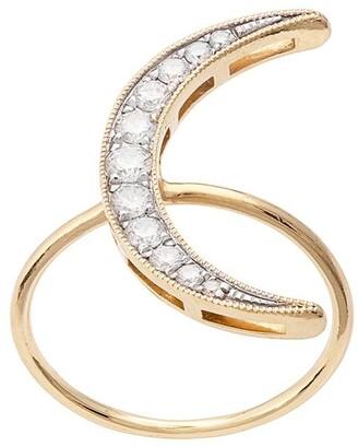 Andrea Fohrman 18kt yellow gold Luna diamond ring