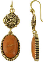 Barse BIJOUX BAR Art Smith by Genuine Sponge Coral Brass Drop Earrings