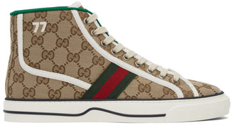 Gucci Beige Tennis 1977 High-Top Sneakers