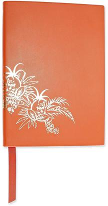 Smythson Soho Metallic Printed Leather Notebook