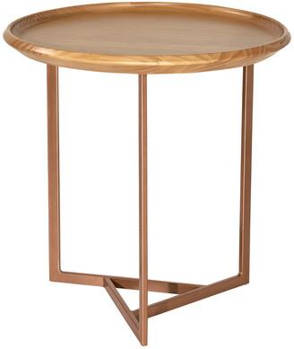 Manhattan Comfort Knickerbocker Round End Table