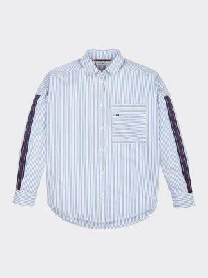 Tommy Hilfiger Logo Tape Stripe Shirt