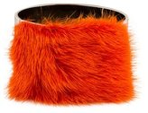 Fendi Orange Mink Fur Cuff Bracelet