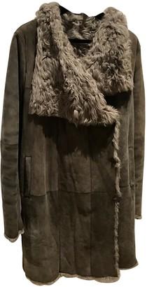 Yves Salomon Grey Fur Coats